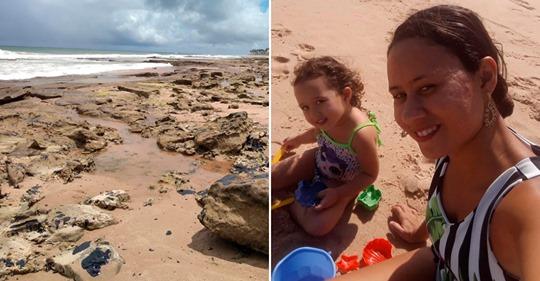 Família de Dias D'Ávila passa mal após tomar banho de mar em Guar.