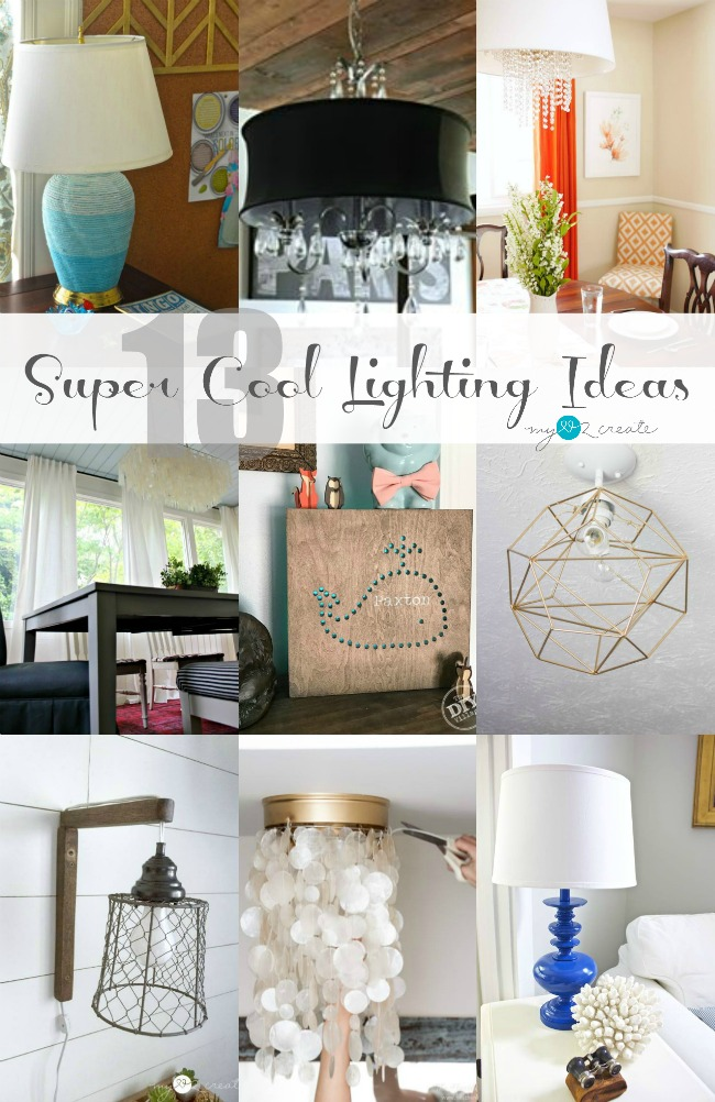 Check out these 13 super cool lighting ideas, there are so many I want to try!  MyLove2Create