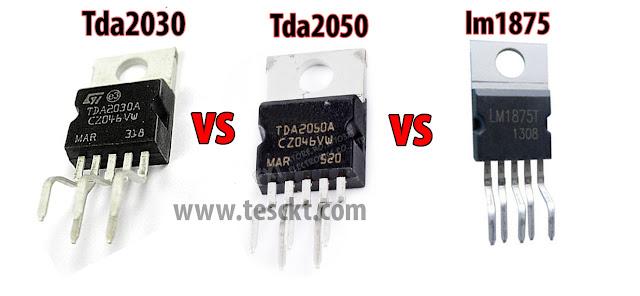 TDA2030 vs TDA2050 vs LM1875