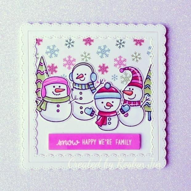 Sunny Studio Stamps: Feeling Frosty Customer Card by Roslyn Jin