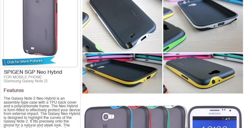 size 40 c8cdb c3e98 Mimi88 Shop: Phone Casing - Samsung Galaxy Note 2 - SPIGEN SGP Neo ...