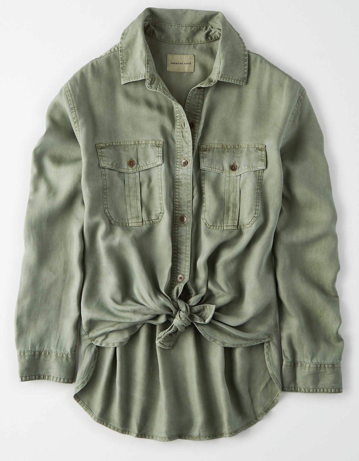 military button down shirt AE