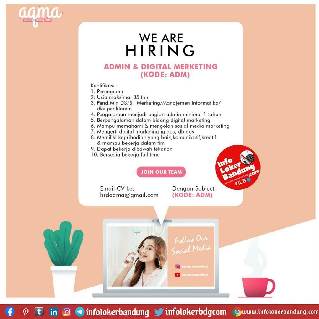 Lowongan Kerja Aqma Skin Care Bandung Oktober 2020