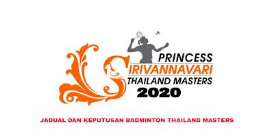 Keputusan Badminton Thailand Masters 2020 (Jadual)