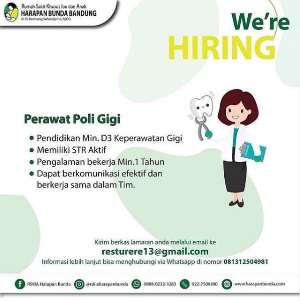 Lowongan Kerja Rskia Harapan Bunda Bandung Terbaru Juni 2020 Lowongan Kerja Terbaru Tahun 2020 Informasi Rekrutmen Cpns Pppk 2020