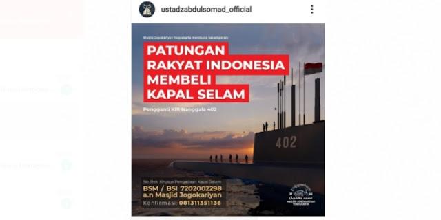 UAS Galang Patungan Rakyat Indonesia Beli Pengganti KRI Nanggala-402