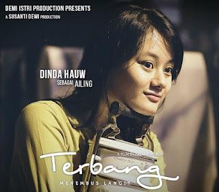 Dinda Hauw bermain dalam Film Terbang
