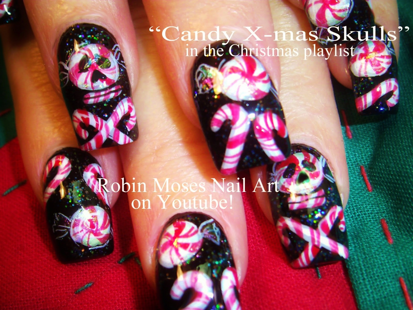 Nail Art By Robin Moses Quotpoinsettia Nailsquot Quotchristmas