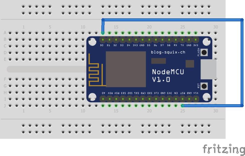 NodeMCU based door sensor with power sleep mode