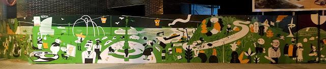 Pintura mural street art Barcelona