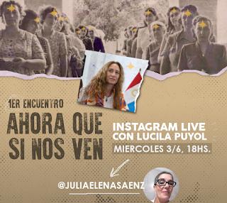 Próximo miércoles 3 de junio: Ni una Menos. Encuentro con Lucila Puyol