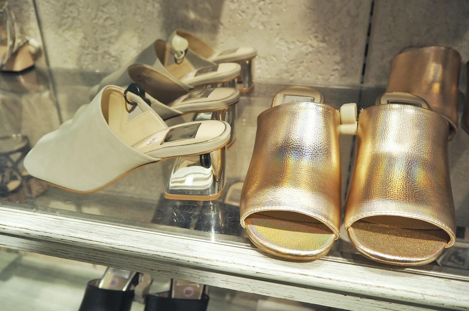 Miss Selfridge Metallic Cody Mule Sandals