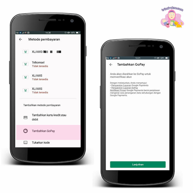 Aktivasi GoPay di Google Play