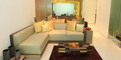 Sofa Bentuk L Untuk Sudut Ruang Tamu Yang Cantik