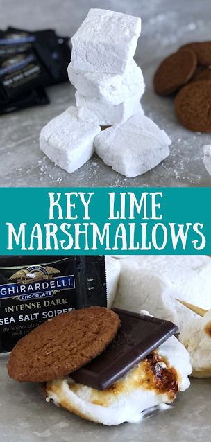 Easy Key Lime Marshmallows