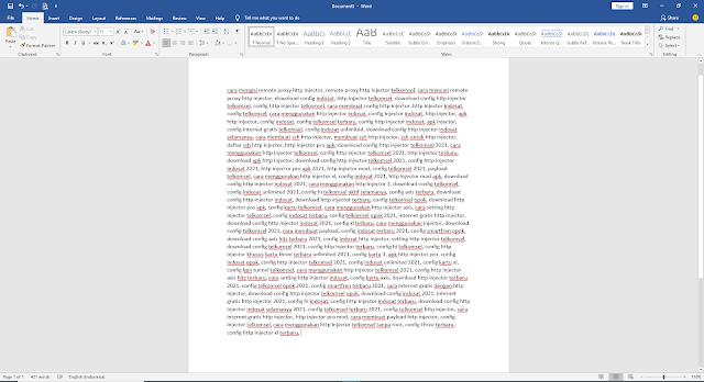 Cara Mengubah Enter menjadi Koma di Ms Word