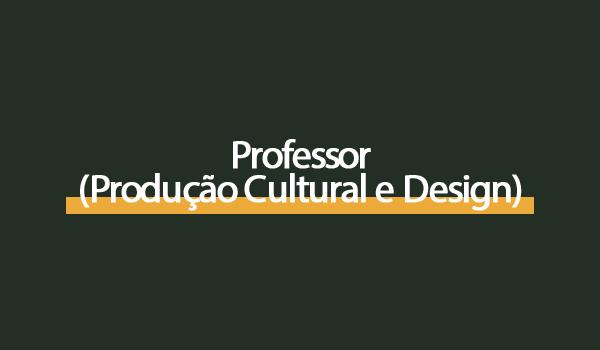 Prova Concurso Professor (Produção Cultural e Design) com Gabarito