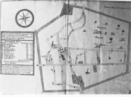 A copy of the plan for the new Cervia that was commissioned by Pope Innocent XII in 1697