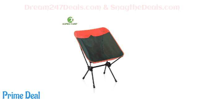 ALPHA CAMP Camping Chair Portable Ultralight  40% OFF