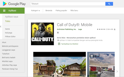 Cara Download Game Call of Duty Mobile Playstore