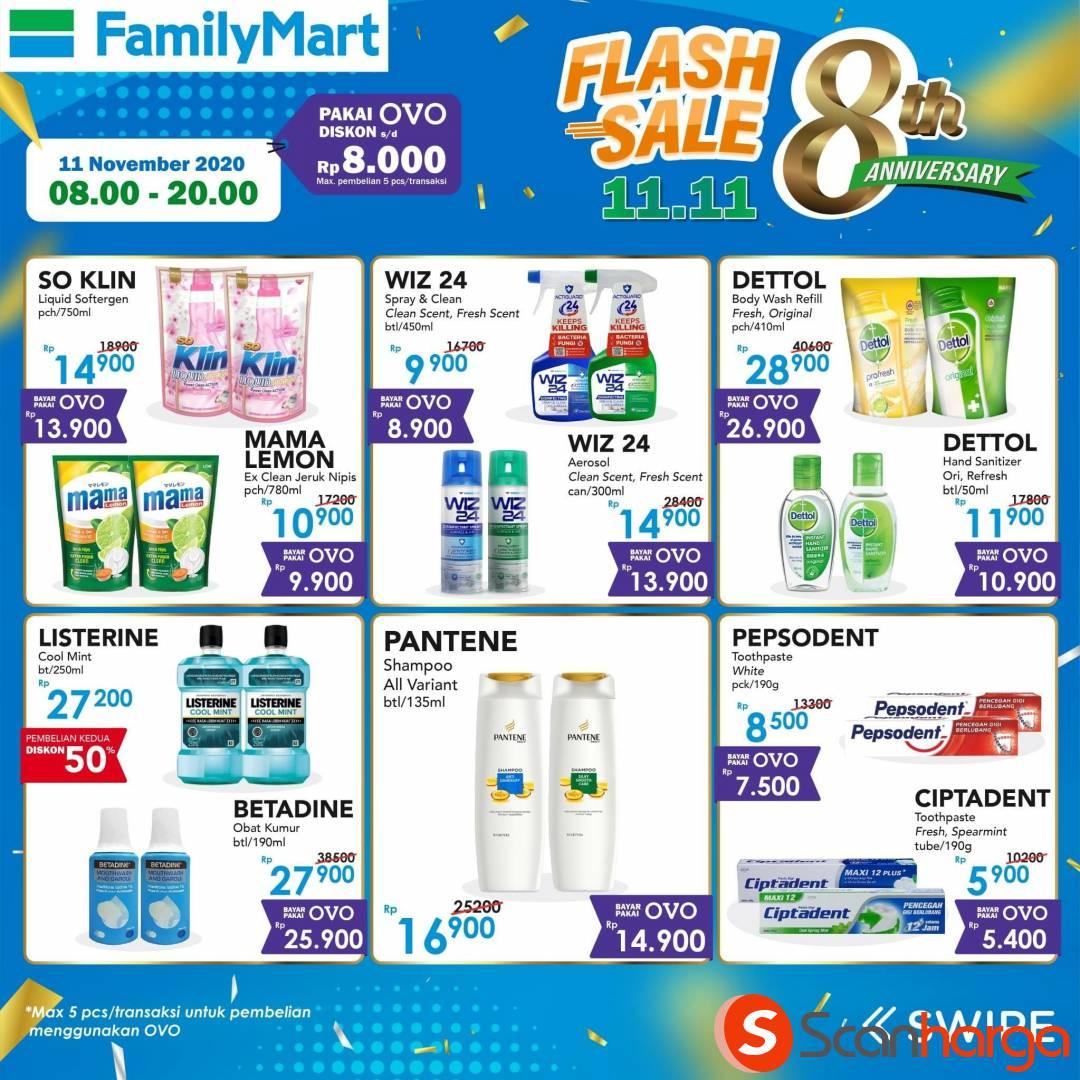 Family Mart Promo Flash Sale 11.11 Disc hingga 8Rb dengan OVO