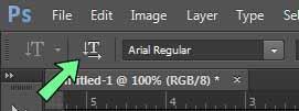 Cara membuat teks vertikal dan horizontal di photoshop
