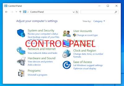 Pengertian Dan Fungsi Control Panel Pada Komputer
