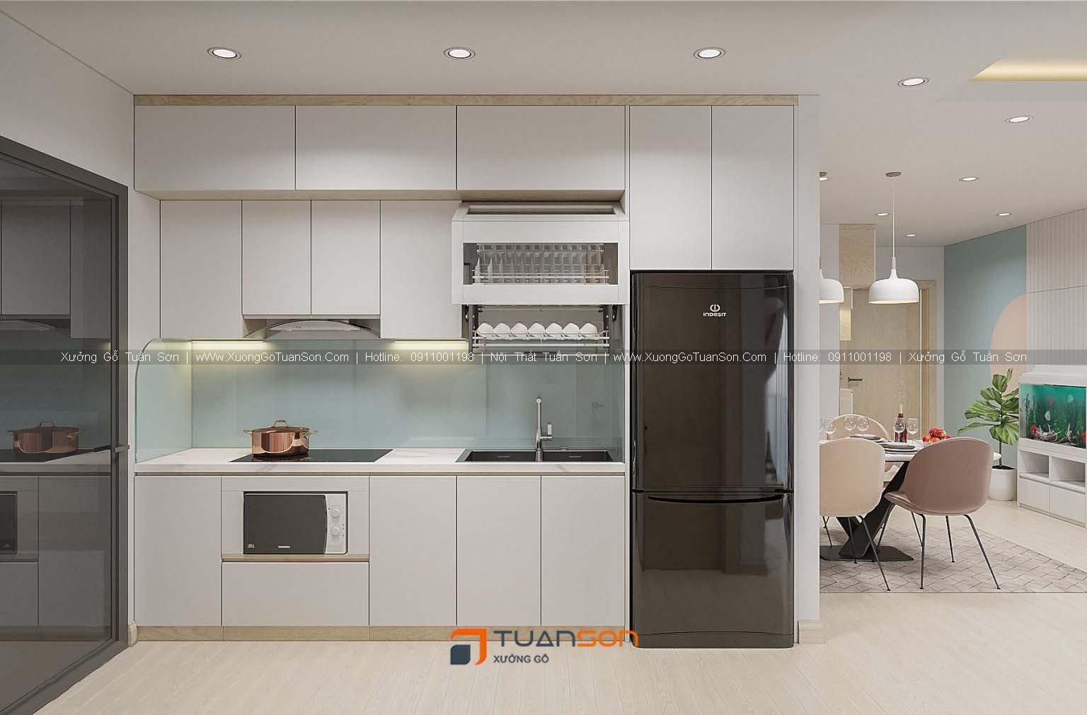 Thiết kế căn hộ số 08 (73.9m2) 2PN Phương Đông Green Park