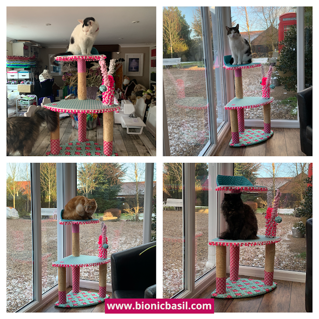 Valentine's Special Crafting with Cat ©BionicBasil® The Best Cat Tree Makeover In The World - Cats