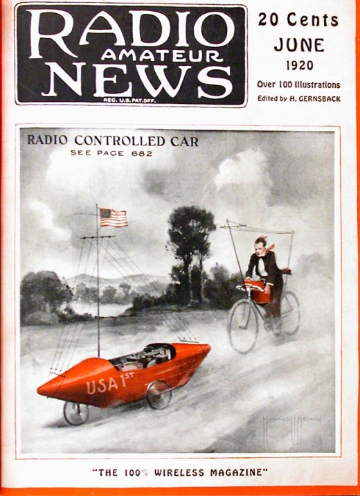 How Much Is A Lamborghini >> Radio Amateur News Magazine Covers, 1920 ~ vintage everyday