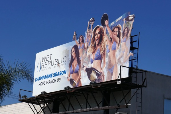 Wet Republic Champagne MGM Grand Vegas billboard