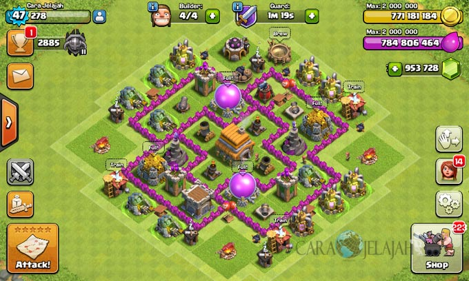 pertahanan terbaik untuk base war th 6 di clash of clans 9
