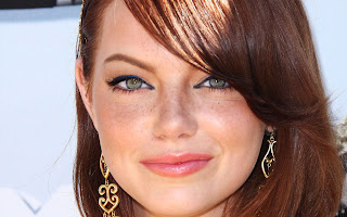 Emma Stone Green Eyes Face Close Up Photo HD Wallpaper