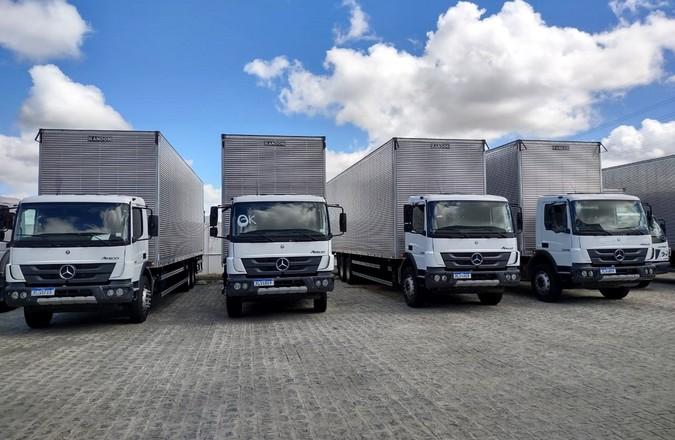 Armazém Paraíba adquire 72 caminhões e vans Mercedes-Benz