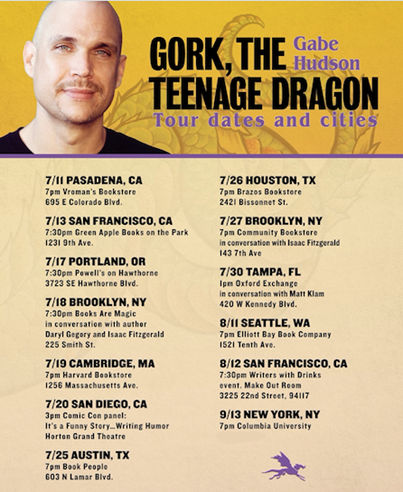 Interview with Gabe Hudson, author of Gork, The Teenage Dragon