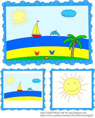 summer song flashcards for learning English