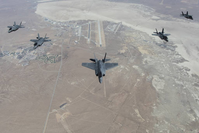 Six USAF F-35 jets belonging to 31st Test and Evaluation Squadron were moved from Edwards AFB to Nellis AFB