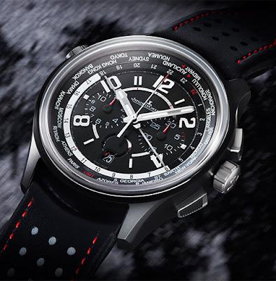 Revue: Réplique Jaeger-LeCoultre AMVOX5 World Chronographe Cermet ref 193A470 Montre De http://www.montreee.co/!