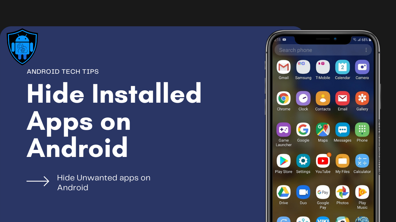 How to Hide a Installed app in Android   MODDED GURU