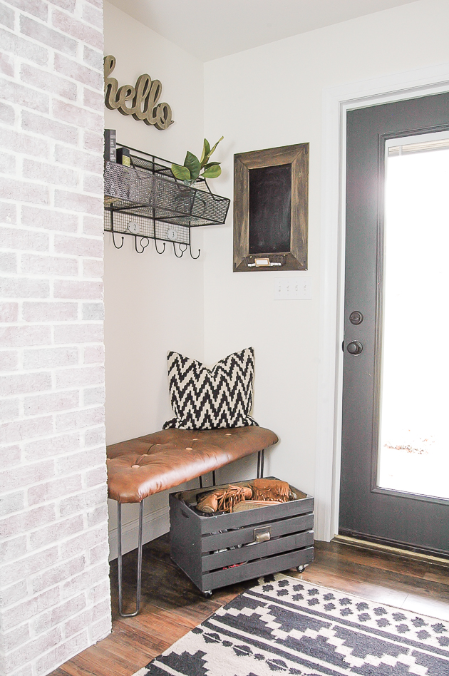 budget friendly mudroom decor