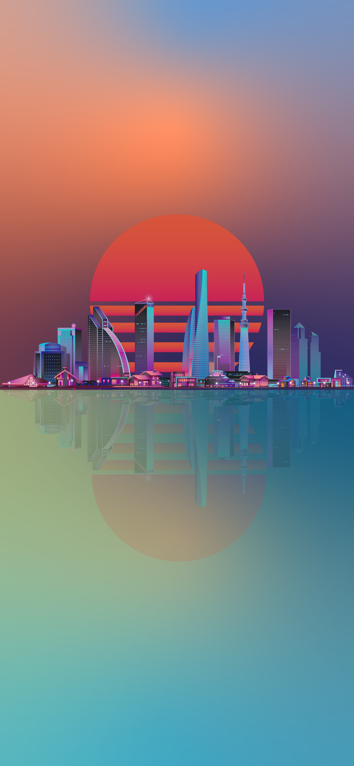Cool Phone Wallpapers Synthwave City Wallpaperize Phone Wallpapers