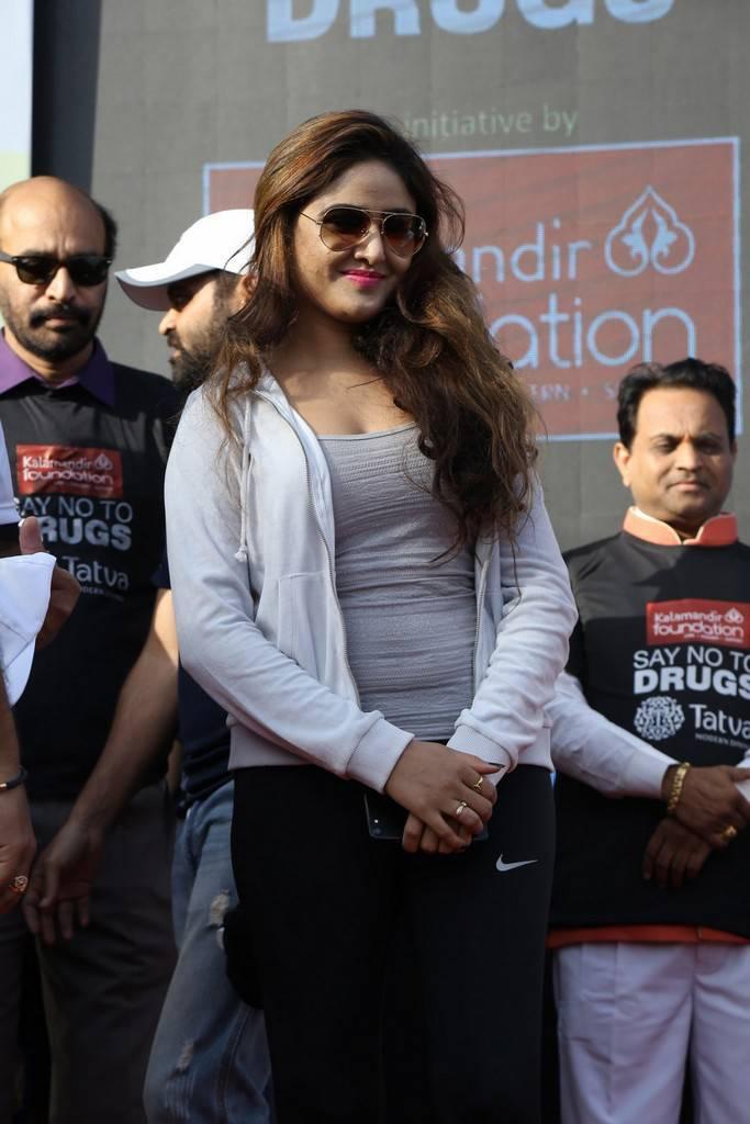 Sony Charishta At Anti Drug Walk Campaign Event Photos