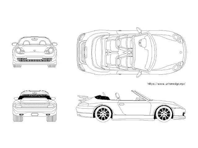 Car cad block download - Porsche 911-1999 Model