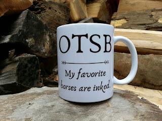 handmade ceramic OTSB horse lover coffee gift mug