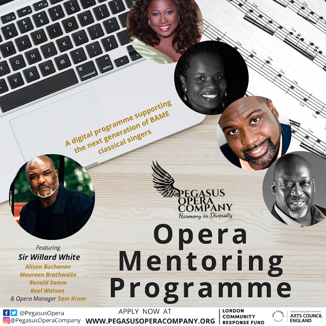 Pegasus Opera launches Opera Mentoring Programme for next generation of opera singers from BAME backgrounds.