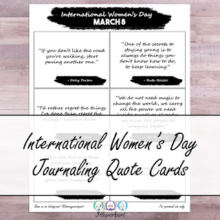 3 Years Apart International Womens Day Quotes Journaling Cards Free Printable