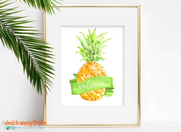Welcome Pineapple Printable