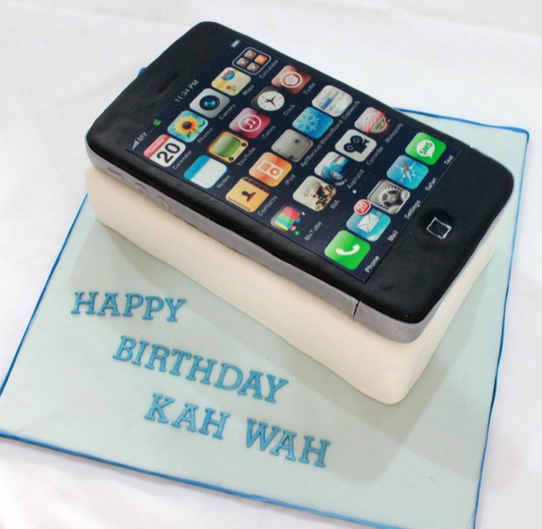 Bearylicious Cakes Apple Iphone Cake