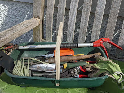 trug containing small tools