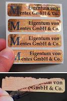 Eigentumskennzeichnung mit Hologramm-Sicherheitsetiketten